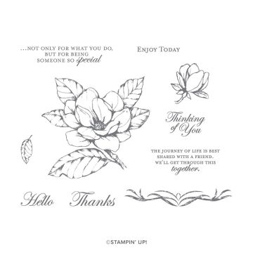 GOOD MORNING MAGNOLIA CLING STAMP SET (ENGLISH)