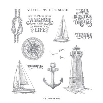 Sailing Home stamp set from Stampin Up with zoe tant