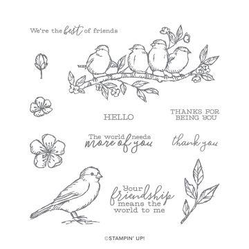 FREE AS A BIRD CLING STAMP SET (ENGLISH)
