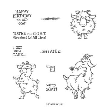 WAY TO GOAT CLING STAMP SET (ENGLISH)