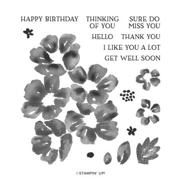 BLOSSOMS IN BLOOM PHOTOPOLYMER STAMP SET
