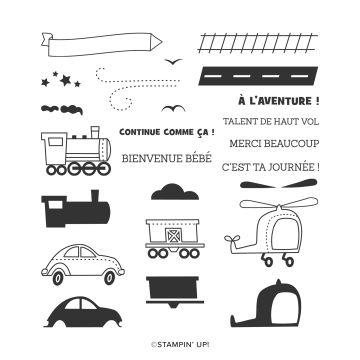 STEMPELSET KLARSICHT JOYEUSE EXCURSION (FRANZÖSISCH)