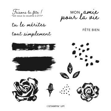 SET DE TAMPONS AMOVIBLES ÉCLOSIONS AU PINCEAU (FRANÇAIS)
