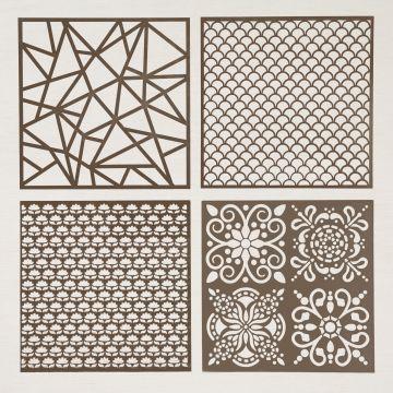 plenty of patterns decorative masks stencils stampin up