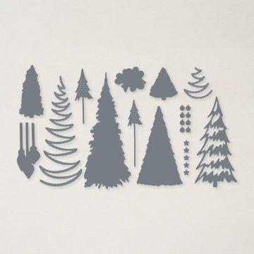 Stanzformen Weihnachtsbäume