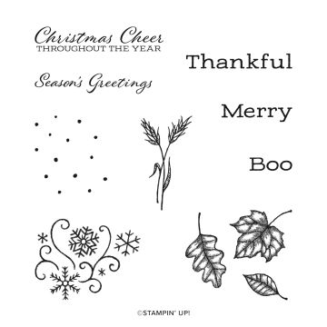 TIME OF GIVING CLING STAMP SET (ENGLISH)