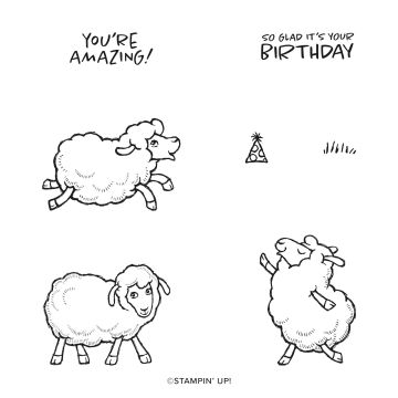 COUNTING SHEEP CLING STAMP SET (ENGLISH)