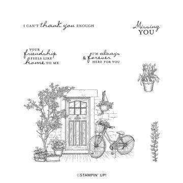 FEELS LIKE HOME CLING STAMP SET (ENGLISH)