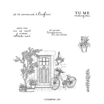 COMME CHEZ SOI CLING STAMP SET (FRENCH)