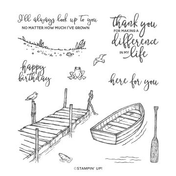 BY THE DOCK CLING STAMP SET (ENGLISH)