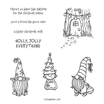 GNOME FOR THE HOLIDAYS CLING STAMP SET (ENGLISH)