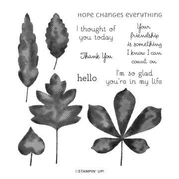 LOVE OF LEAVES PHOTOPOLYMER STAMP SET (ENGLISH)