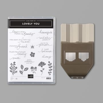 Stamp set and punch bundle save 10%, Lovely You, Stampin' Up!
