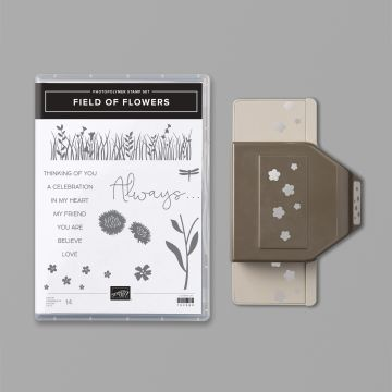 Field of Flowers stamp set and punch bundle