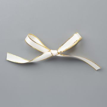 "GOLD 3/8"" (1 CM) METALLIC EDGE RIBBON"