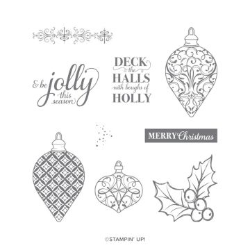 CHRISTMAS GLEAMING CLING STAMP SET (ENGLISH)