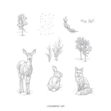 NATURE'S BEAUTY CLING STAMP SET