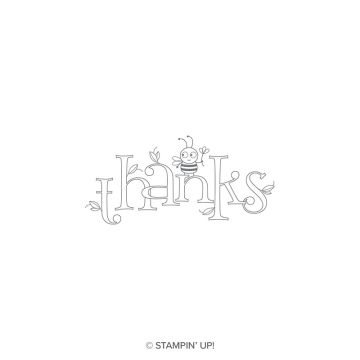 BEE THANKFUL CLING STAMP SET
