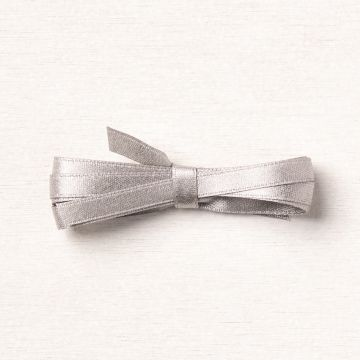 "GRAY GRANITE 1/4"" (6.4 MM) SHIMMER RIBBON"