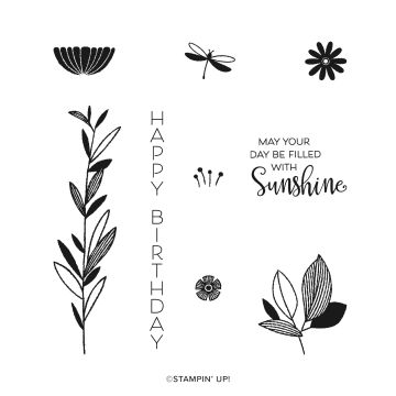 CELEBRATE WITH FLOWERS CLING STAMP SET (ENGLISH)