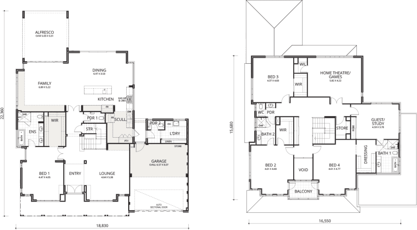 Floorplan for The Cottesloe
