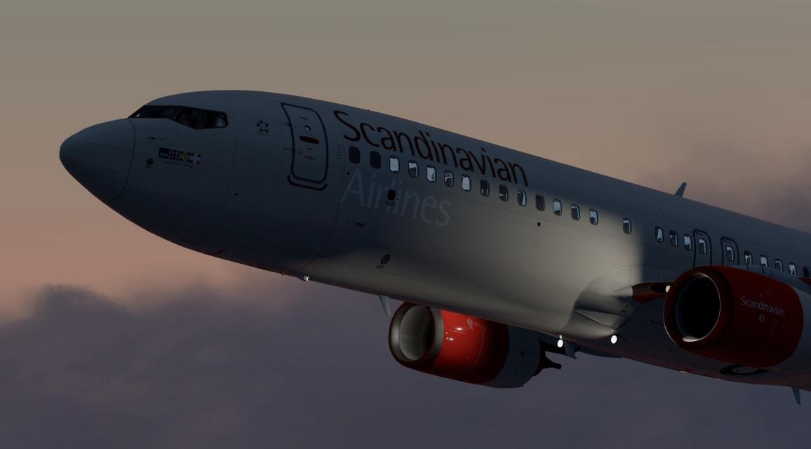 SAS B738