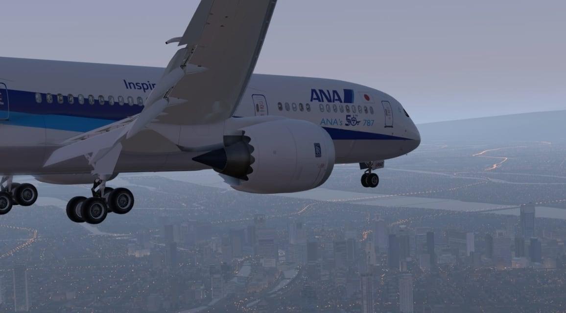 ANA B789 Osaka
