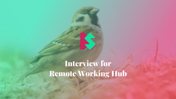 Cover for Interview for Remote Working Hub article.