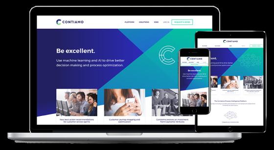 Screenshot of Contiamo website.