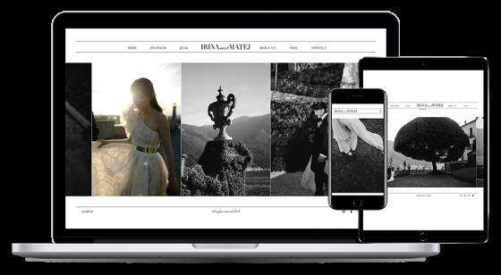 Screenshot of Irina & Matej website.