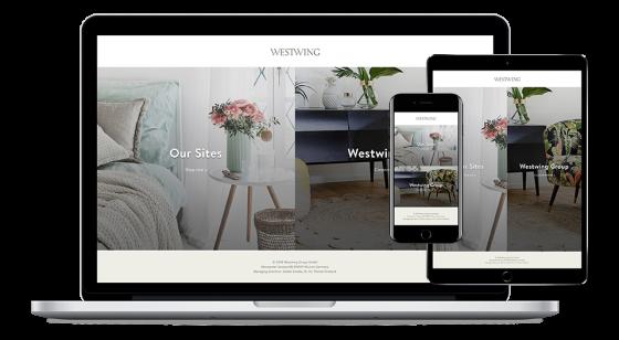 Screenshot of Westwing website.