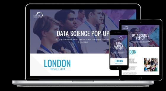 Screenshot of Domino Data Lab Pop-up website.