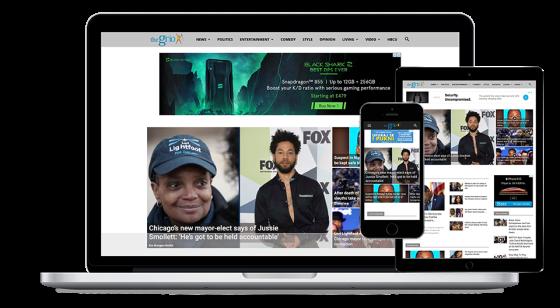 Screenshot of TheGrio website.