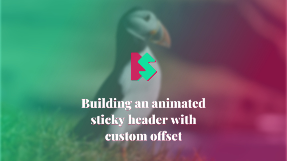 Cover image with custom graphics for article Building an Animated Sticky Header With Custom Offset.