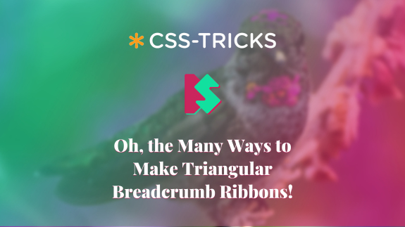Cover image with custom graphics for article Oh, the Many Ways to Make Triangular Breadcrumb Ribbons.