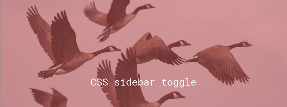 CSS sidebar toggle