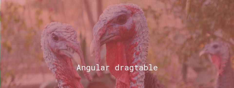 Angular dragtable