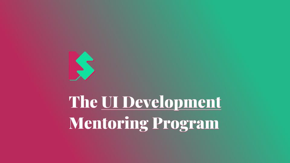 The UI Development Mentoring Program
