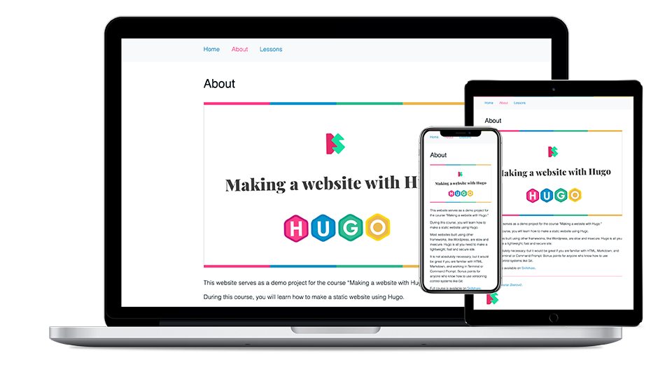 Making a website with Hugo