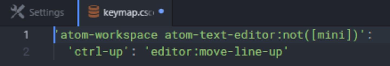Keybindings keymap copy command.