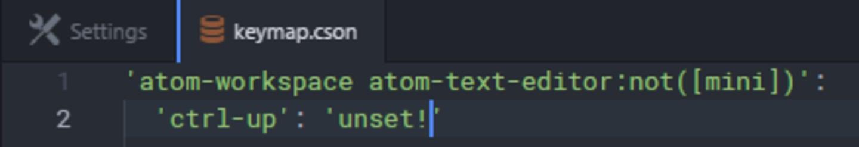 Keybindings keymap unset command.