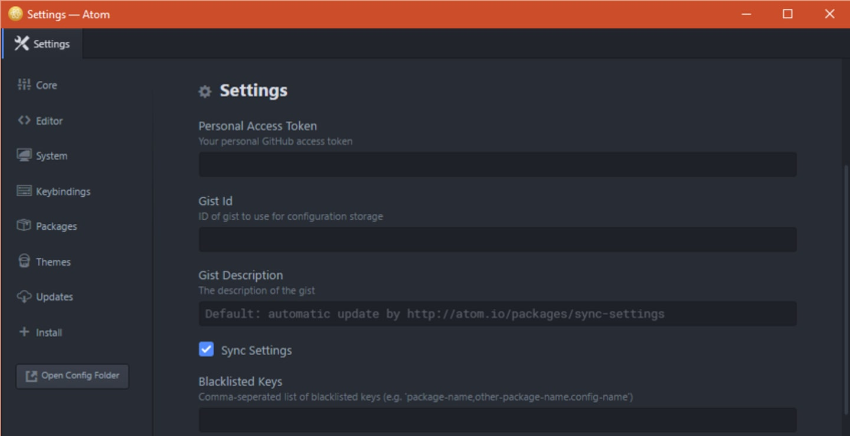 Sync-settings configuration.