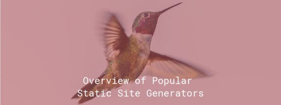 Overview of Popular Static Site Generators