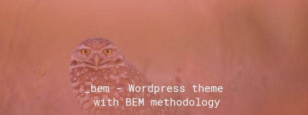 _bem - Wordpress theme with BEM methodology