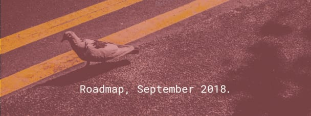 Roadmap, September 2018.