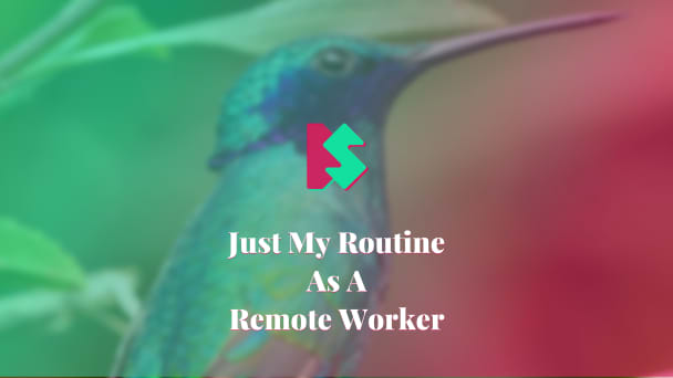 Just My Routine As A Remote Worker