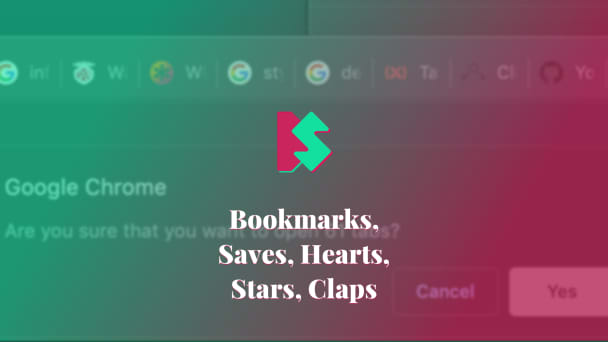 Bookmarks, Saves, Hearts, Stars, Claps