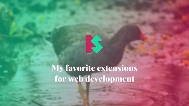 My favorite extensions for web development