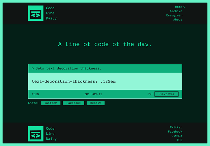 Code Line Daily screenshot.