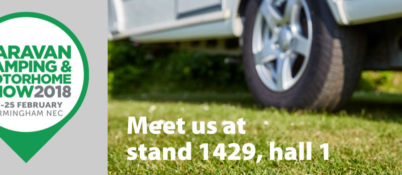 Meet us at the UK's biggest caravan show 20-25th February 2018